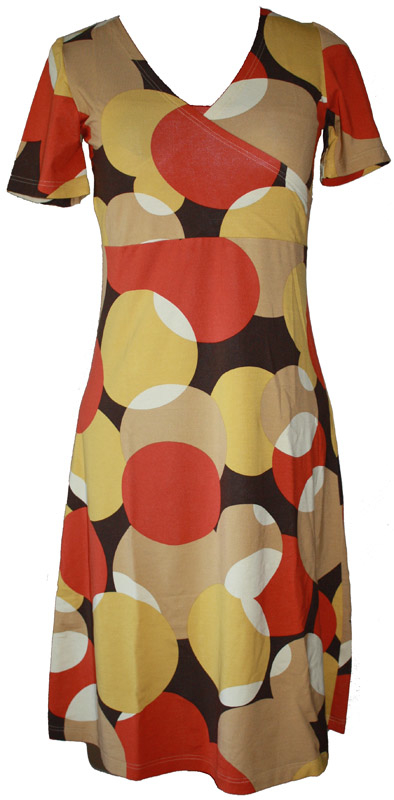 Dress bubbles orange